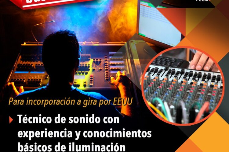 Oferta laboral Técnico de Sonido (Miami)